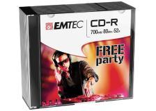Cd-r emtec 80min/700mb 52x slim case (kit 10pz) - Z06315