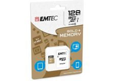 Micro sdxc emtec 128gb class 10 gold + con adattatore - Z06349