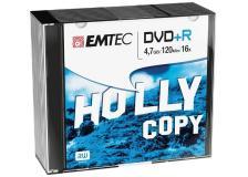 Dvd+r emtec4,7gb 16x slim case (kit 10pz) - Z06359