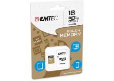 Micro sdhc emtec 16gb class 10 gold plus con adattatore - Z06363