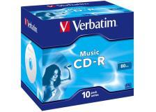 Scatola 10 cd-r music live it 80min. serigrafato colorato - Z09410