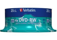 Confezione da 25 dvd-rw spindle 4x 4.7gb superf.matt silver serigrafata - Z09425