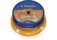 Scatola 25 dvd-r spindle 16x 4.7gb 120min.serigrafato - Z09449