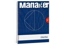 Blocco spiral manager 23x29,7cm 10mm 80fg 82gr 4fori microperforato favini - Z09965