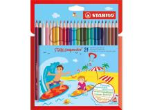 Astuccio 24 pastelli stabilo aquacolor 1624-6 - Z11202