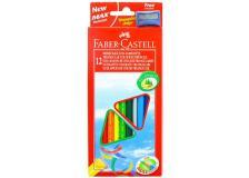 Astuccio 12 pastelli colorati triangolari eco + temperino faber castell - Z11261