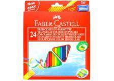 Astuccio 24 pastelli colorati triangolari eco + temperino faber castell - Z11262