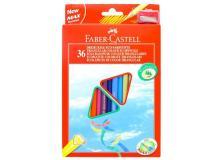Astuccio 36 pastelli colorati triangolari eco + temperino faber castell - Z11263