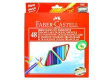 Astuccio 48 pastelli colorati triangolari eco + temperino faber castell - Z11264