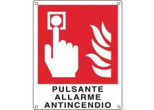 Cartello alluminio 12x14,5cm 'pulsante allarme antincendio'' - Z11341