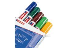 Busta 5 marcatori edding 4090 (blu, verde, marrone, verde chiaro, arancio fluo) - Z11535