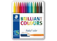 Triplus pennarelli brilliant colours punta 1mm astuccio da 15 colori staedtler - Z11974