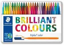Triplus pennarelli brilliant colours punta 1mm astuccio da 50 colori staedtler - Z11976