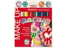 Make up tempera solida playcolor astuccio con 6 colori brillanti - Z12014
