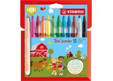 Astuccio 12 pennarelli trio jumbo stabilo - Z12093