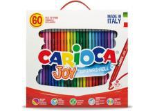 Scatola 60 pennarelli joy lavabili colori assortiti carioca - Z12135