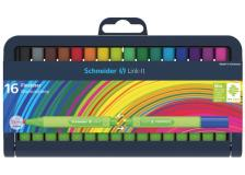Astuccio 16 fineliner link-it 0,4mm colori ass. schneider - Z12275