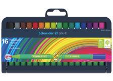 Astuccio 16 pennarelli link-it 1,0mm colori ass. schneider - Z12286