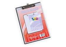 Portablocco A4 personalizzabile in ppl trasparente con molla in metallo - Z12315