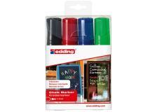 Busta 4 marcatori edding 4090 (nero, rosso, blu, verde chiaro) - Z12387