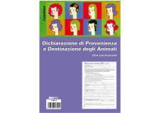 Blocco dichiaraz. prov.-dest. animali 25x4 copie autoric. 30x22,5cm e5849a(17) - Z12737