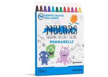 Astuccio 12 pennarelli colorati punta fine Molors OSAMA - Z13124