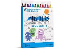 Astuccio 24 pennarelli colorati punta fine Molors OSAMA - Z13125