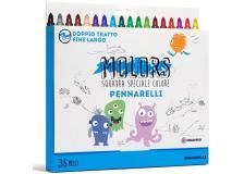 Astuccio 36 pennarelli colorati punta fine Molors OSAMA - Z13126