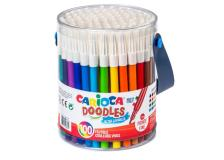 Barattolo 100 pennarelli fine Doodle colori assortiti Carioca - Z13317