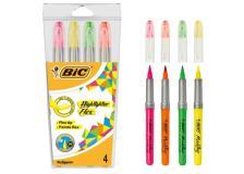 Astuccio 4 evidenziatori Flex Highlighter colori assortiti Bic - Z13642