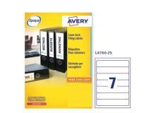 Etichetta adesiva L4760 bianca coprenti 25fg A4 192x38mm (7et/fg) Avery - Z13802