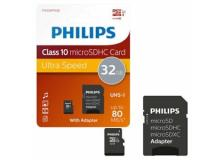 PHILIPS MICRO SDHC CARD 32GB CLASS 10 INCL. ADAPTER - Z14516