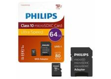 PHILIPS MICRO SDXC CARD 64GB CLASS 10 INCL. ADAPTER - Z14517