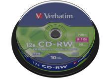 Scatola 10 cd-rw datalifeplus 8x-10x 700mb serigrafato - Z14770