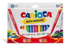 Scatola 20 pennarelli magic markers colori assortiti carioca - Z15191