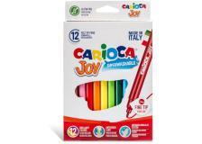 Scatola 12 pennarelli joy lavabili colori assortiti carioca - Z15195