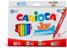 Scatola 24 pennarelli joy lavabili colori assortiti carioca - Z15196