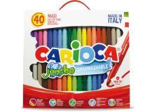 Scatola 40 pennarelli jumbo lavabili colori assortiti carioca - Z15199