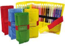 Astuccio roll up 24 pennarelli colori assortiti carioca - Z15201