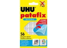 Blister 56 supporti trasparenti gomma adesiva uhu patafix invisible - Z15244