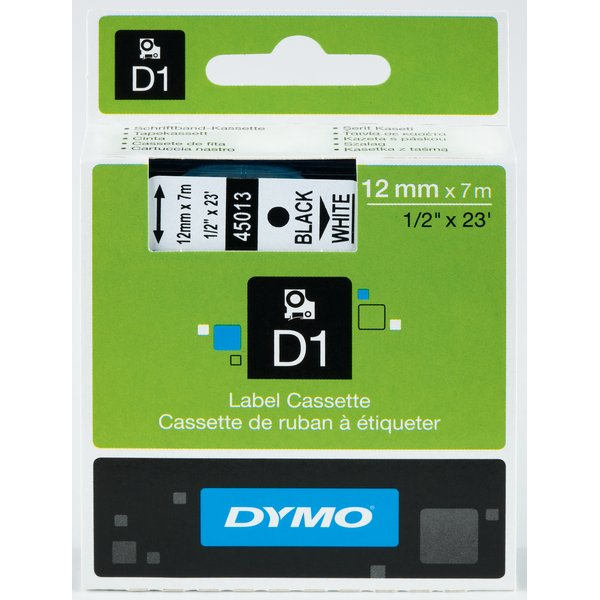 Nastro Dymo 12mm x 5,5m polyester - 16959 (S0718060) nero-bianco - 092319