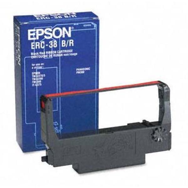 Nastro Epson ERC-38BR (C43S015376) nero-rosso - 129918