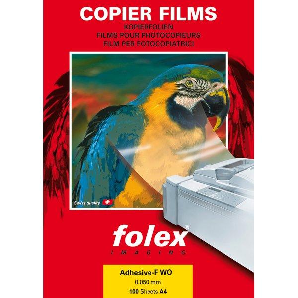 Film adesivo Folex - trasparente - A4 - bianco lucido - 26240.050.44000 (conf.100)