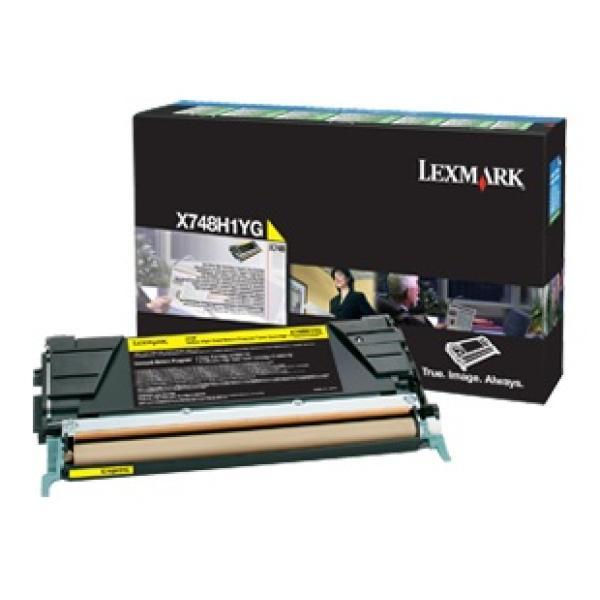Ufficio Discount : Cartuccia toner lexmark x748 x748h1yg giallo originale conf. 1