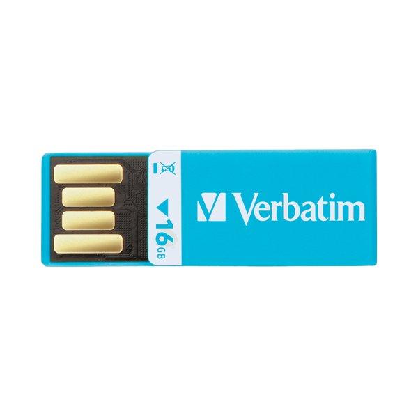 USB 2.0 Drive Clip-it Verbatim - blu - 43954