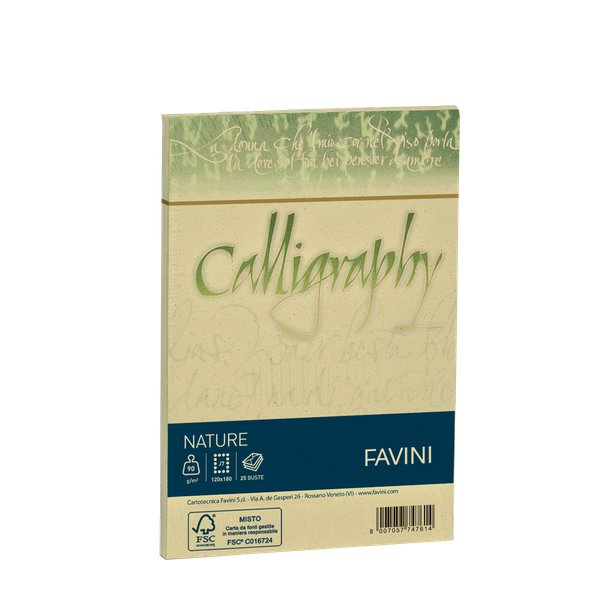 Calligraphy Nature Favini - Oliva - buste - 12X18 - 120 g - A57N107 (conf.25)
