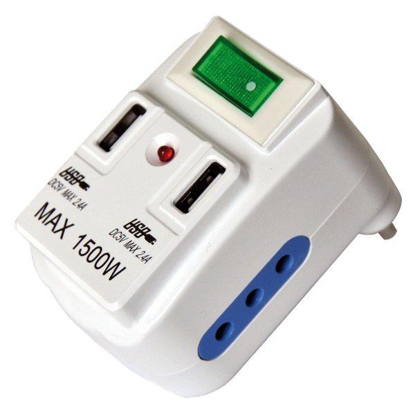 Adattatore di rete con prese USB MKC - 2 10A + 2USB - 10A - 492519352