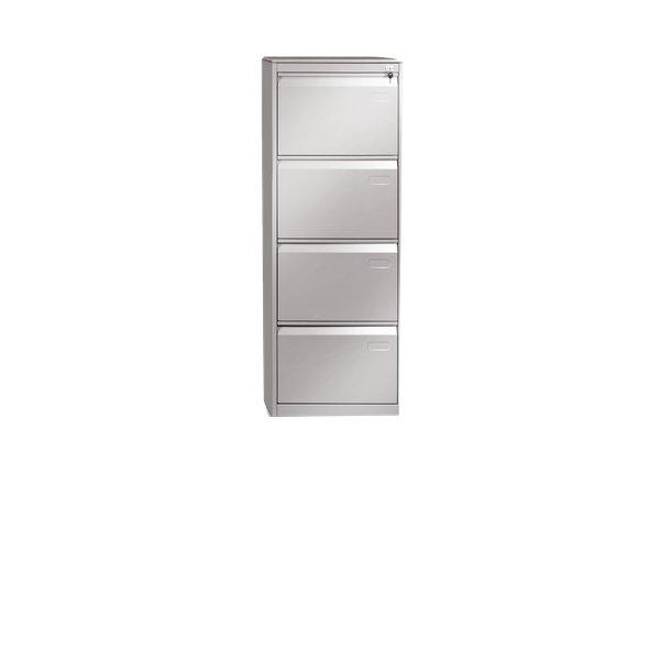Classificatore in metallo Tecnical 2 - 4 - grigio - LxPxH 49,5x65,2x136 cm - ECO-4-T grigio