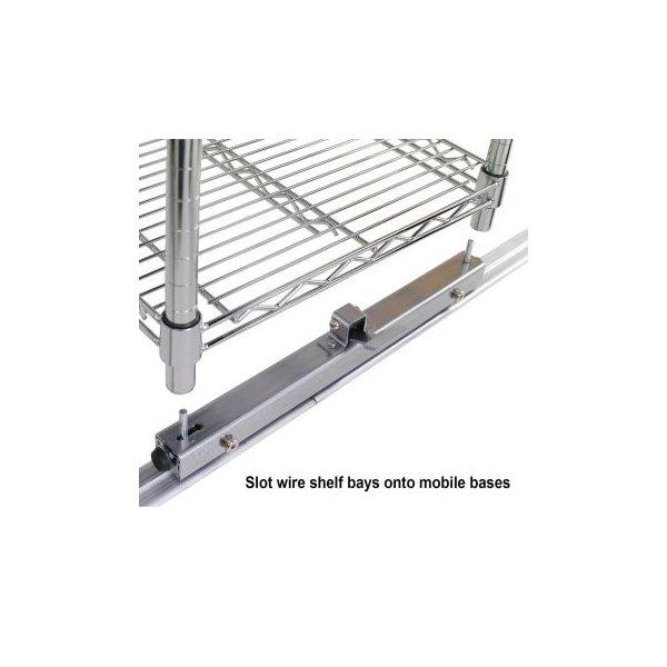 Rotaie per scaffalature in filo d'acciaio Serena Group - 60 cm - RA24 (conf.2)