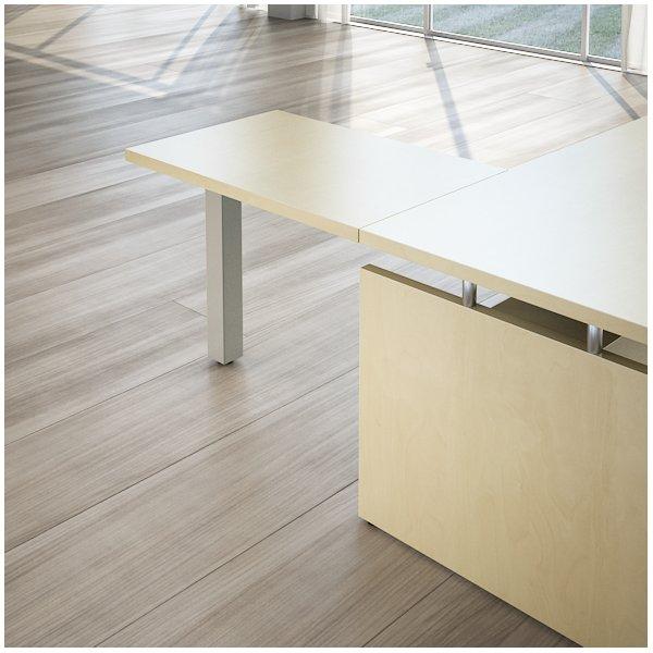 Allungo Scrivania Linea direzionale GIANO WOOD - acero / alluminio - 90 cm - 60 cm - 72,5 cm